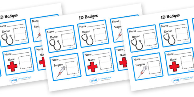 Hospital Id Badge Clipart - Clipart Suggest