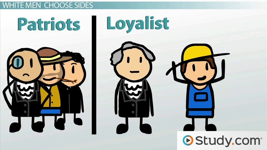 patriots vs loyalist essay