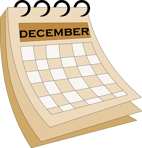 December Calendar Art : December calendar clipart suggest