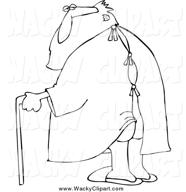 Clipart Of A Black And White Santa In Hospital Gown By Djart    894