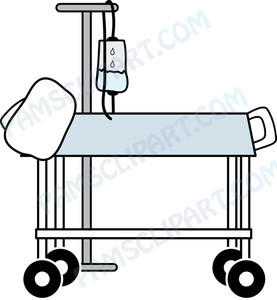 Hospital Clipart Hospital Bed With Iv Stand 0515 1104 2205 0816 Sm Jpg