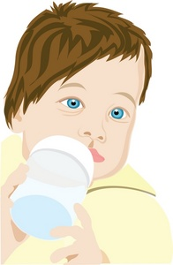 Infant Clipart Image  Infant Baby Drinking Milk Or Formula From A Baby