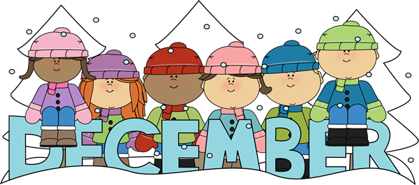 Month Of December Winter Kids Clip Art   Month Of December Winter Kids