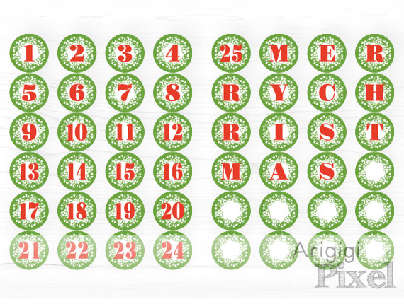 christmas numbers clipart free - photo #36