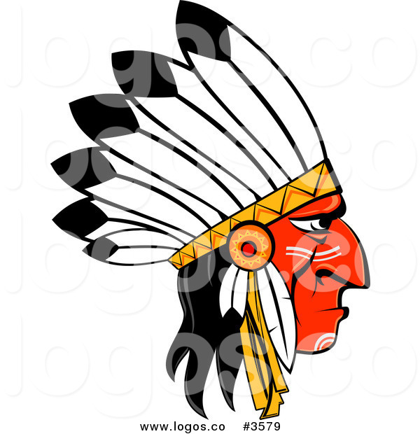 Royalty Free Clipart Illustration Of A Native American Logo  This