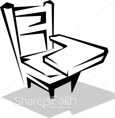 Small Student Desk   Christian Classroom Clipart