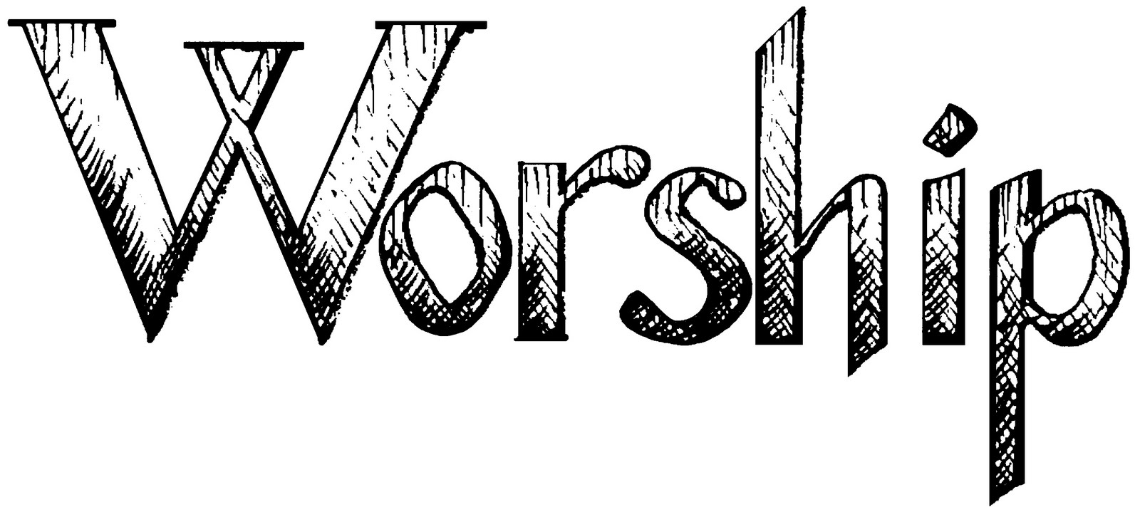 Sunday worship clip art cliparts for Worship schedule template