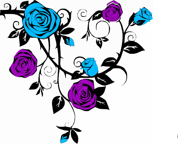Blue Rose Corners Clipart   Cliparthut   Free Clipart
