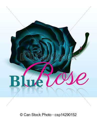 Blue Rose On White Background With Text For Special Days Illustrated