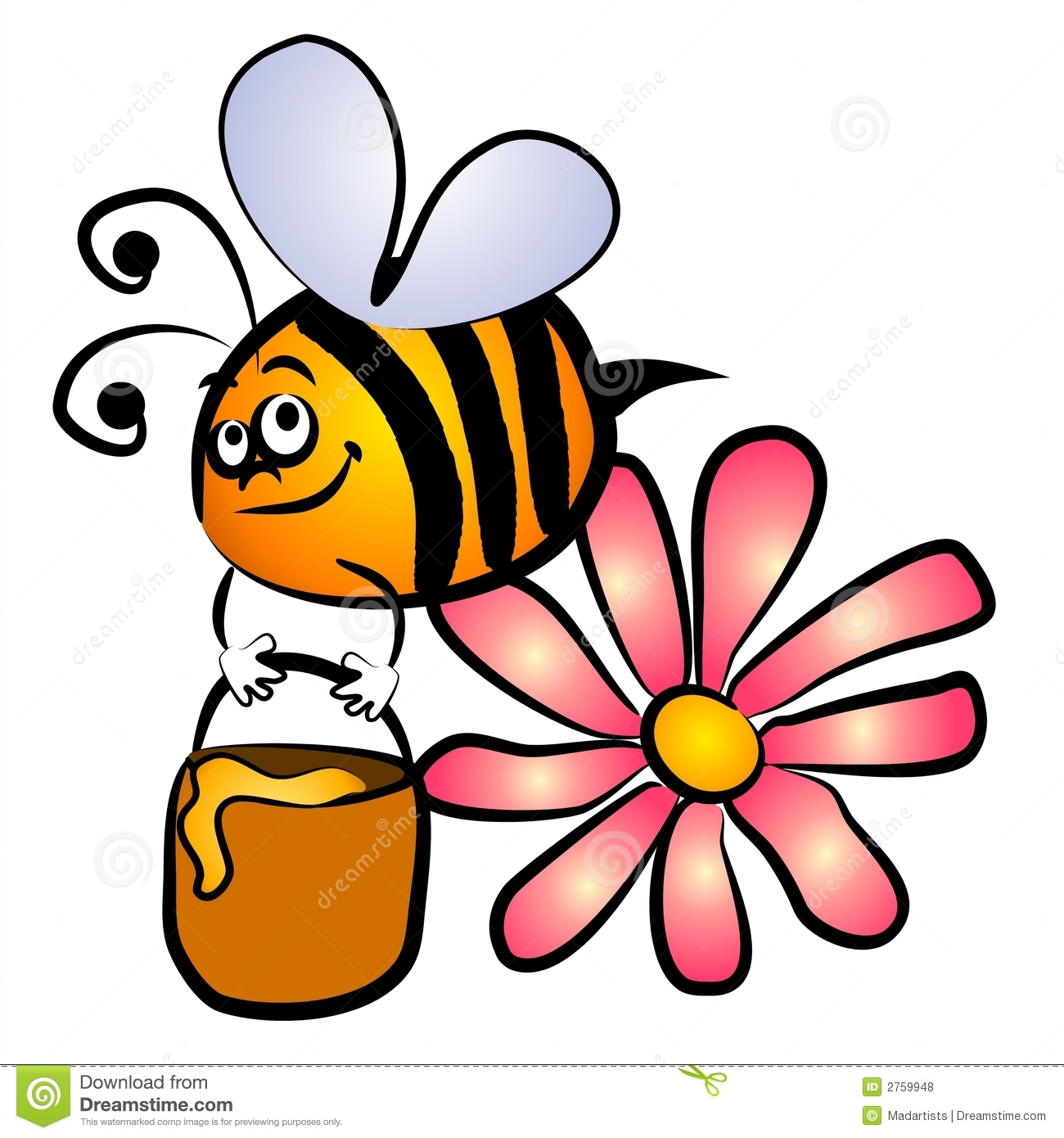 Bee Cartoon Clipart - Clipart Kid