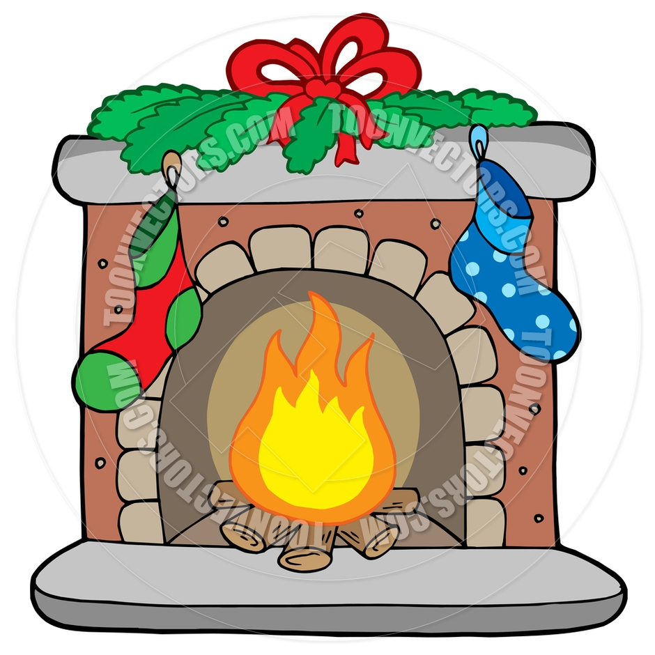 Cartoon Christmas Fireplace   Clipart Panda   Free Clipart Images