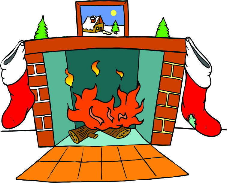 Christmas Fireplace Clipart   Clipart Best