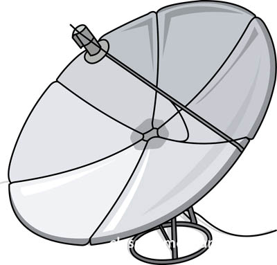 Communication   Satellite Dish 0109   Classroom Clipart