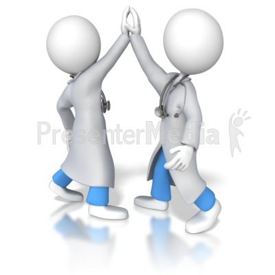 Doctors Or Nurses High Five   Medical And Health   Great Clipart For