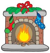 Fireplace Clipart And Illustration  1120 Fireplace Clip Art Vector