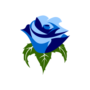 Flower Clipart   Blue Rose With Black Background   Download Free