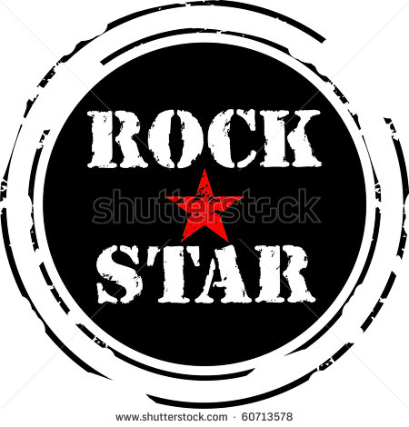 Rock Star Clip Art For Kids Rock Star Rubber Stamp   Stock