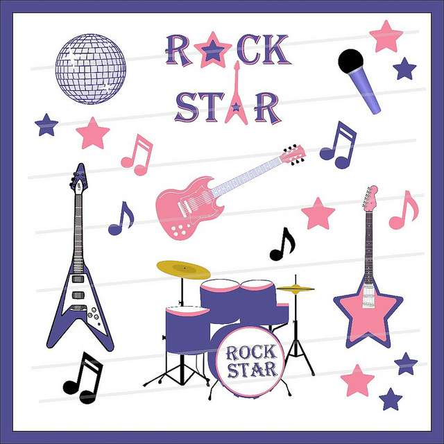 Rock Star Clip Art   Here Are Some Cool Items For A Rock Sta