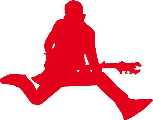 Rock Star With Guitar Clip Art At Clker Com   Vector Clip Art Online