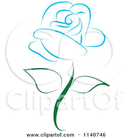 Royalty Free  Rf  Blue Rose Clipart   Illustrations  1
