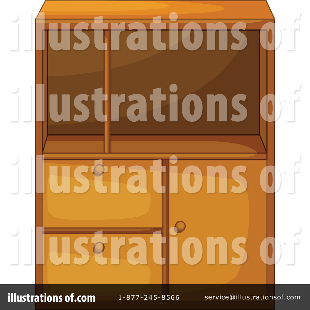Royalty Free  Rf  Cabinet Clipart Illustration By Colematt   Stock
