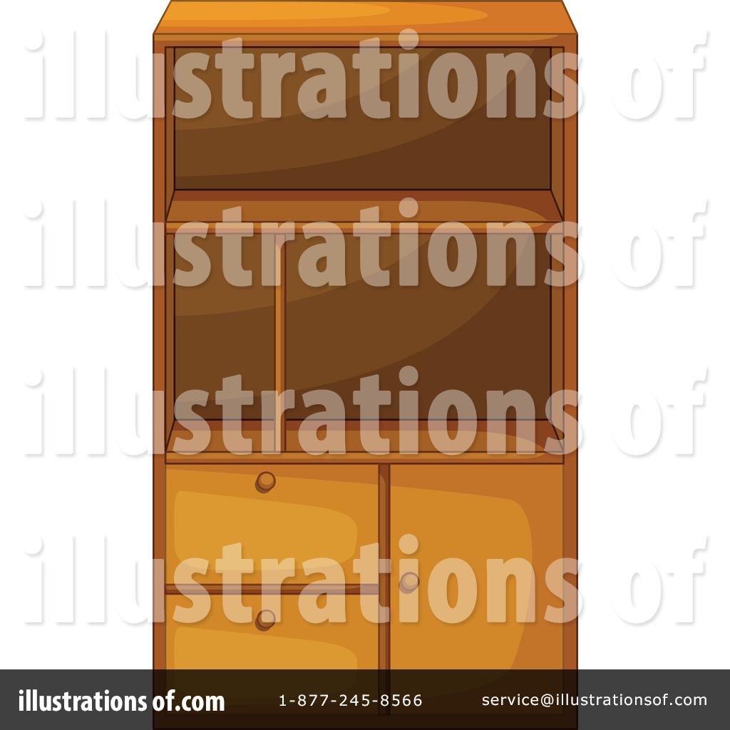Royalty Free  Rf  Cabinet Clipart Illustration By Iimages   Stock