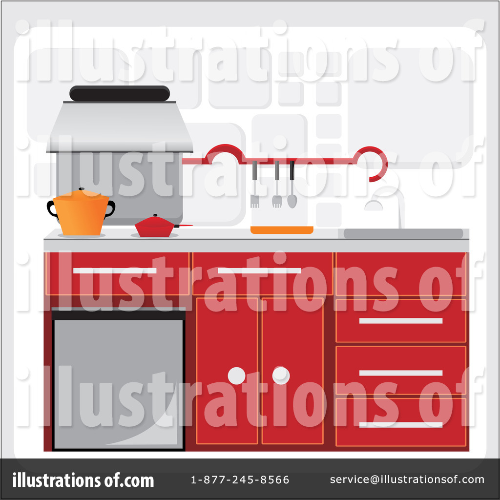 Royalty Free  Rf  Kitchen Clipart Illustration By Andresr   Stock