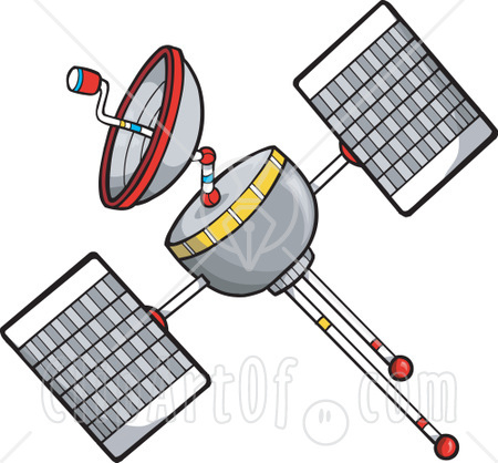 Satellite Floating In Space Clipart Illustration   Flickr   Photo