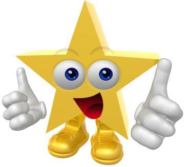 Mini Metallic Gold Star Praise Stickers |Very Good Clipart