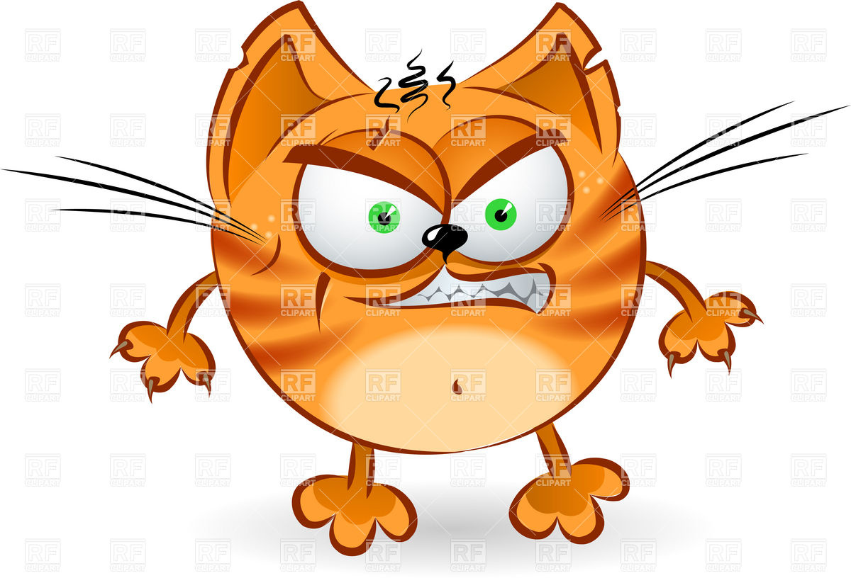 The Angry Orange Cartoon Cat Download Royalty Free Vector Clipart