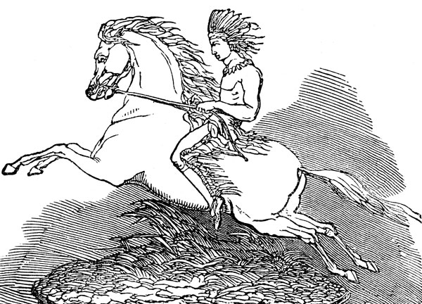 American Indian Clipart  Indian On Horseback