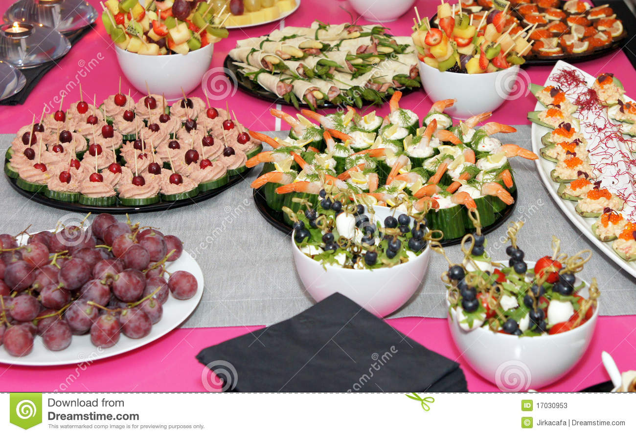 Banquet Appetizing Food Celebration Party Food Styling