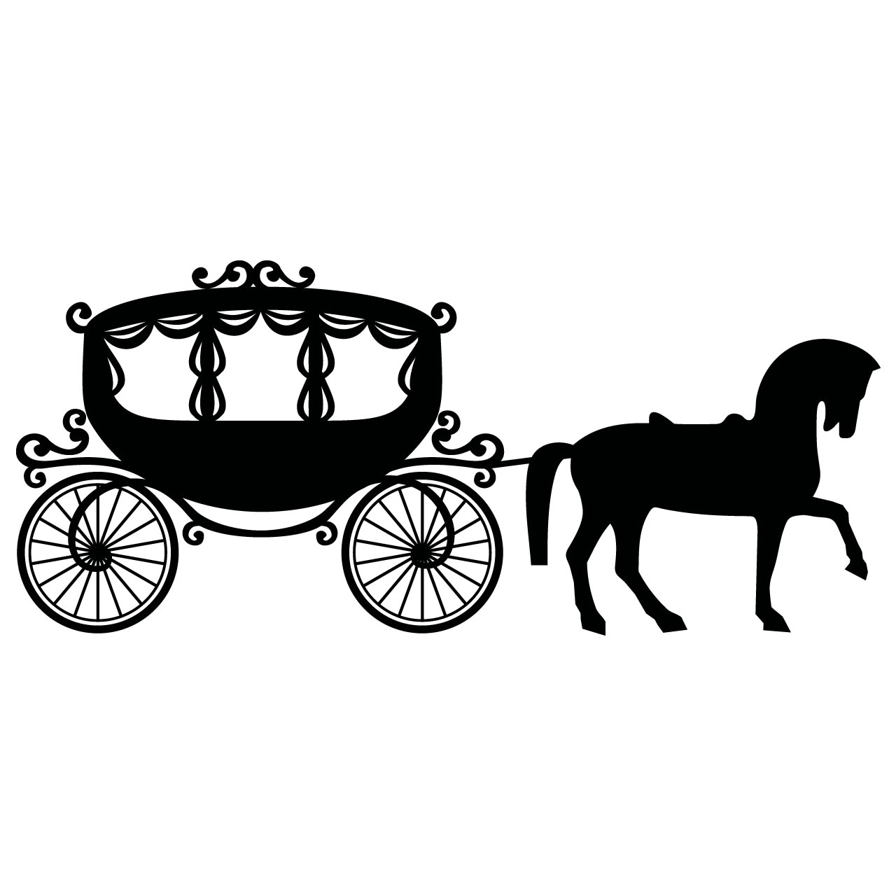Cinderella Carriage Sketch Fairytale Princess Carriage