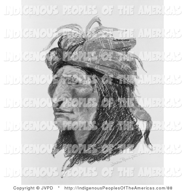 Clipart Of A Creek Native American Indian By Jvpd    88