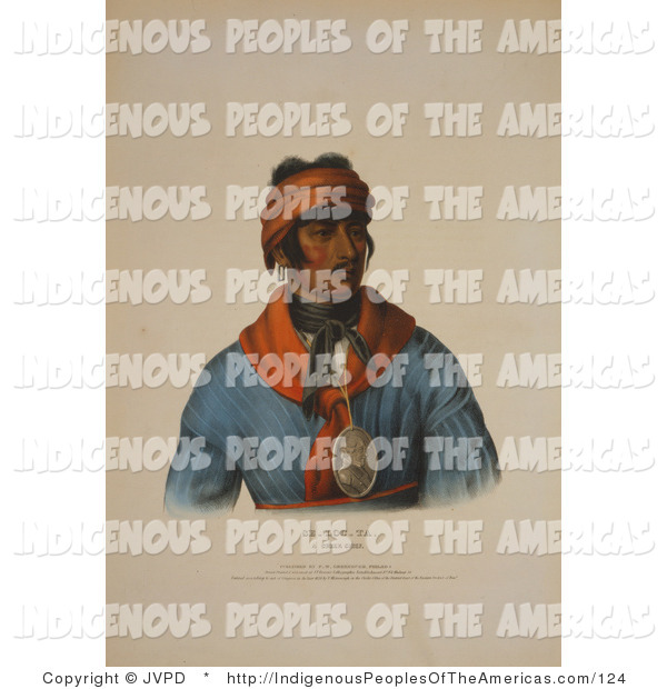 Clipart Of A Creek Native American Indian Chief Named Se Loc Ta By