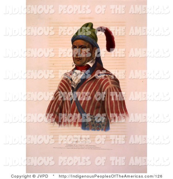 Clipart Of A Creek Native American Indian Warrior Named Me Na Wa By