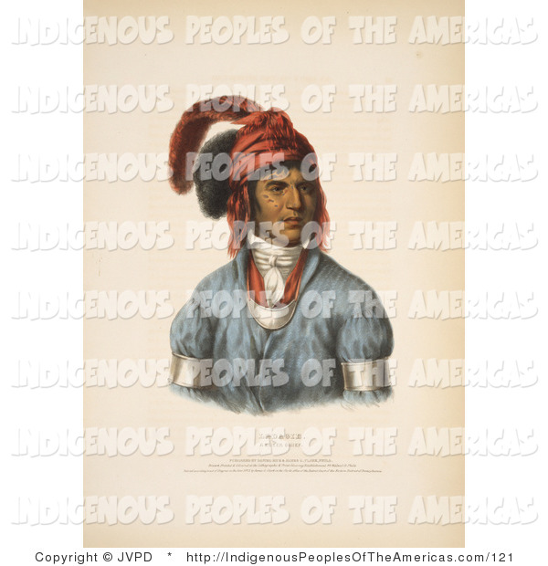 Clipart Of Ledagie A Creek Native American Chief By Jvpd    121