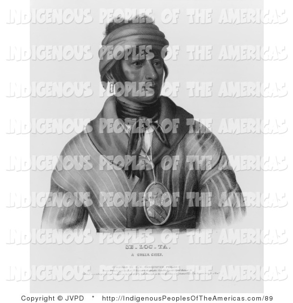 Clipart Of Se Loc Ta A Creek Native American Chief By Jvpd    89