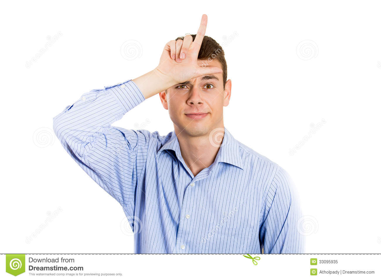 Loser Sign On Forehead Related Keywords & Suggestions -Loser Sign ...
