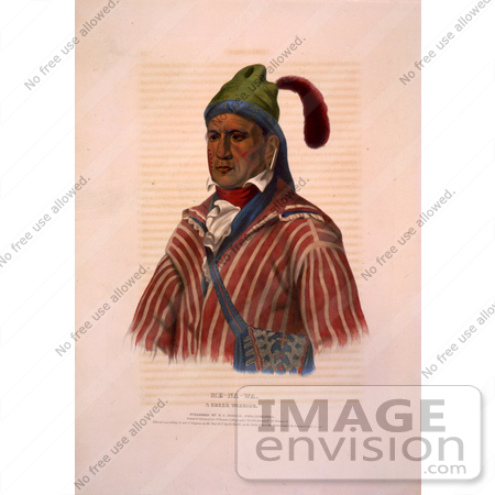 Creek Indian Warrior Named Me Na Wa    7301 By Jvpd   Royalty Free