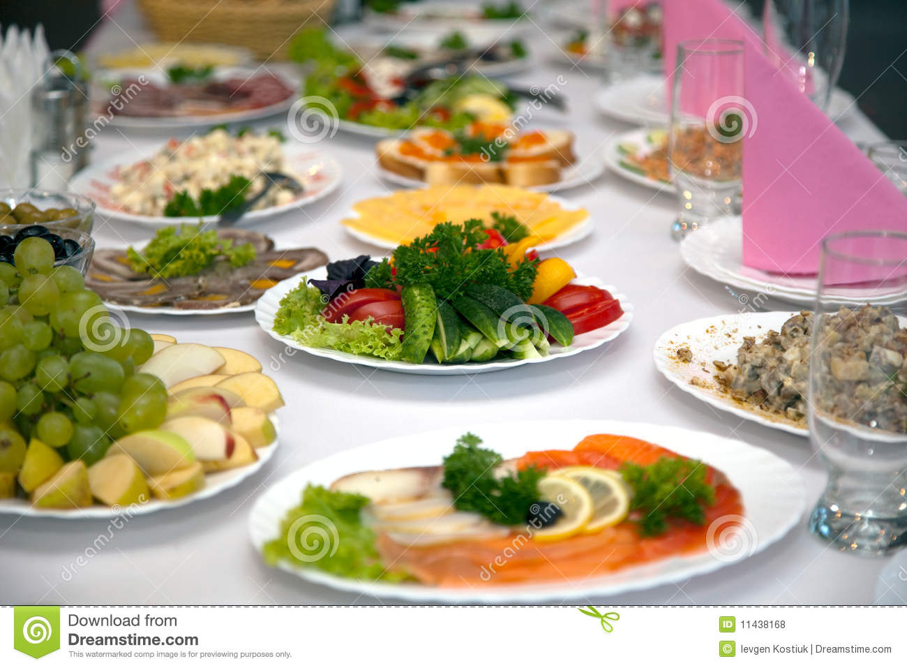 Food At Banquet Table Royalty Free Stock Photos   Image  11438168