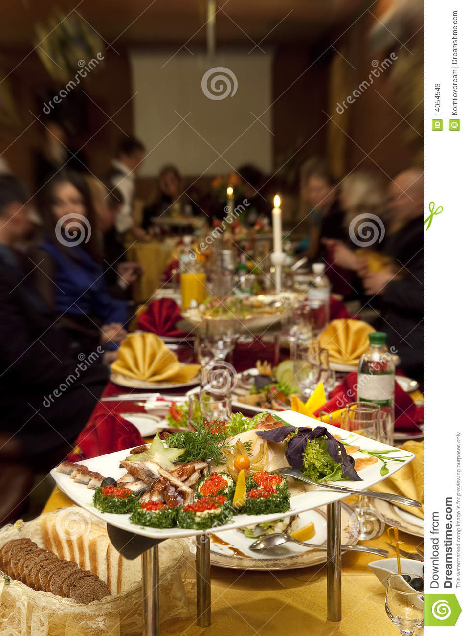 Food At Banquet Table Stock Photos   Image  14054543