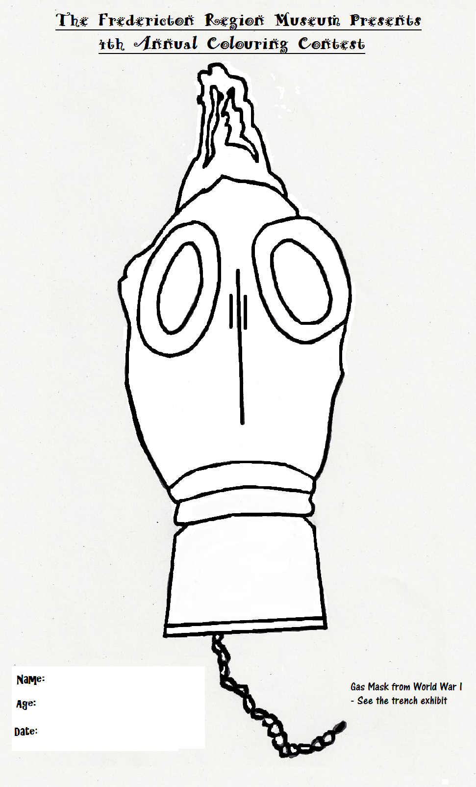 Gas Mask Colouring Pages