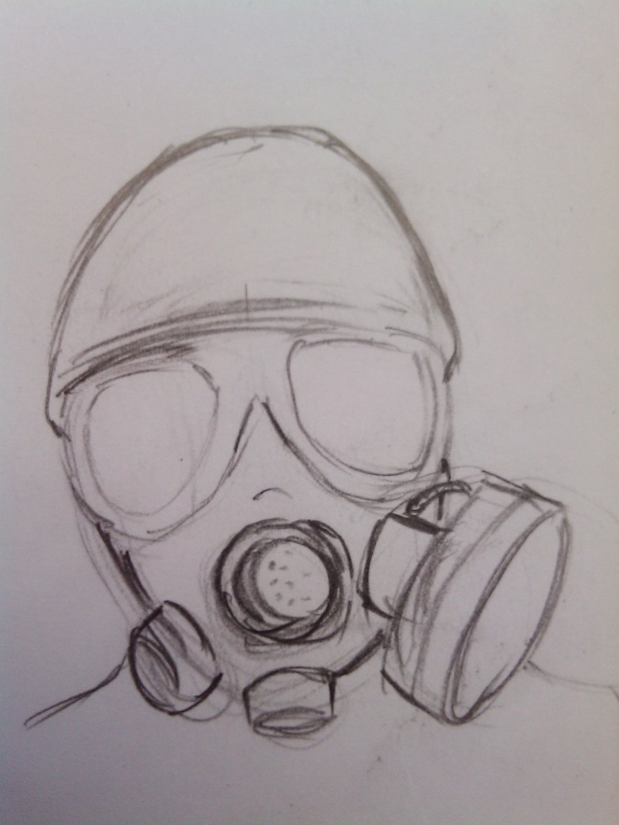 Gas Mask Drawing