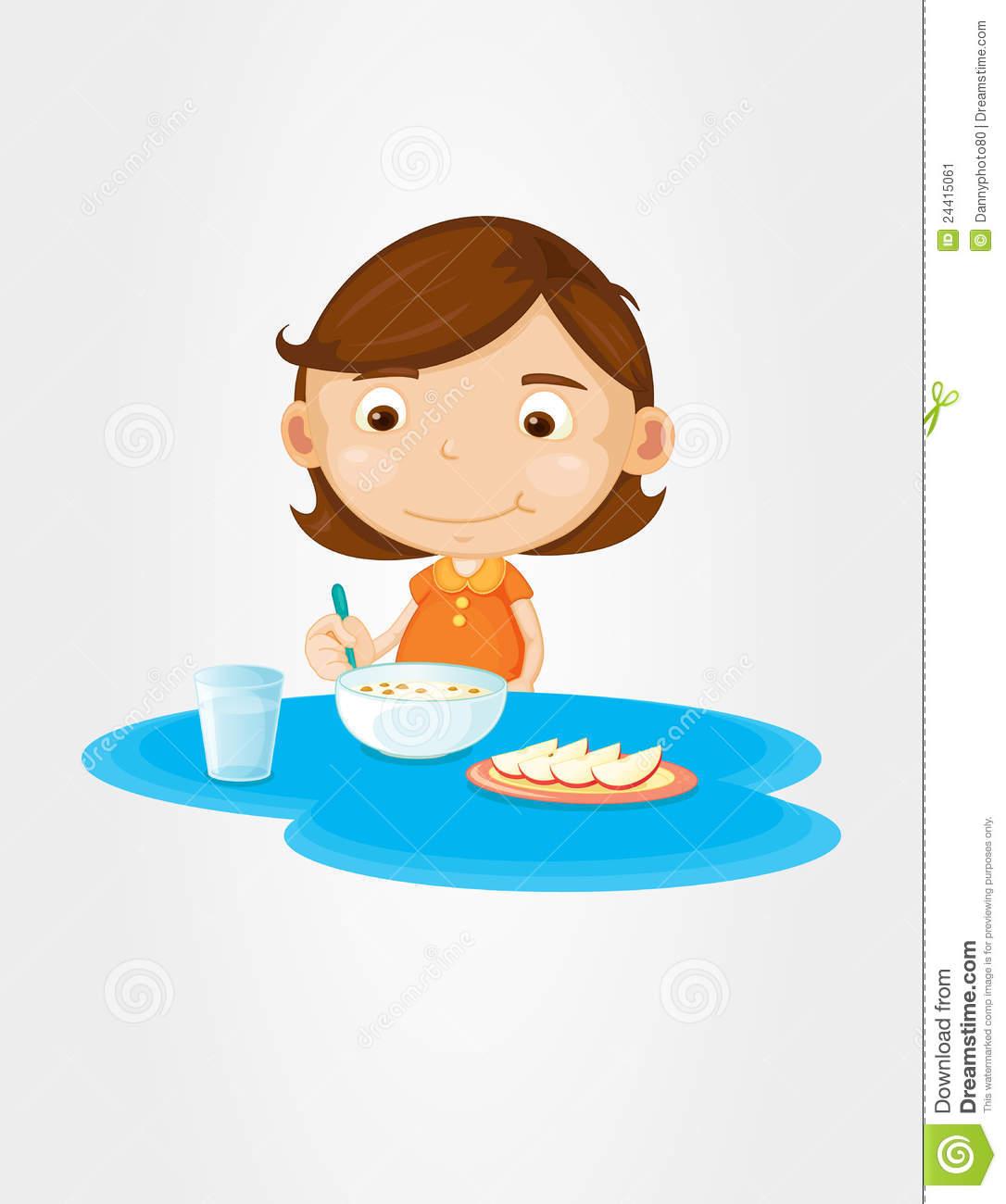 Girl Eat Breakf...