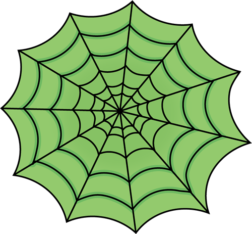Green Spider Web Clip Art Image   Large Green Spider Web