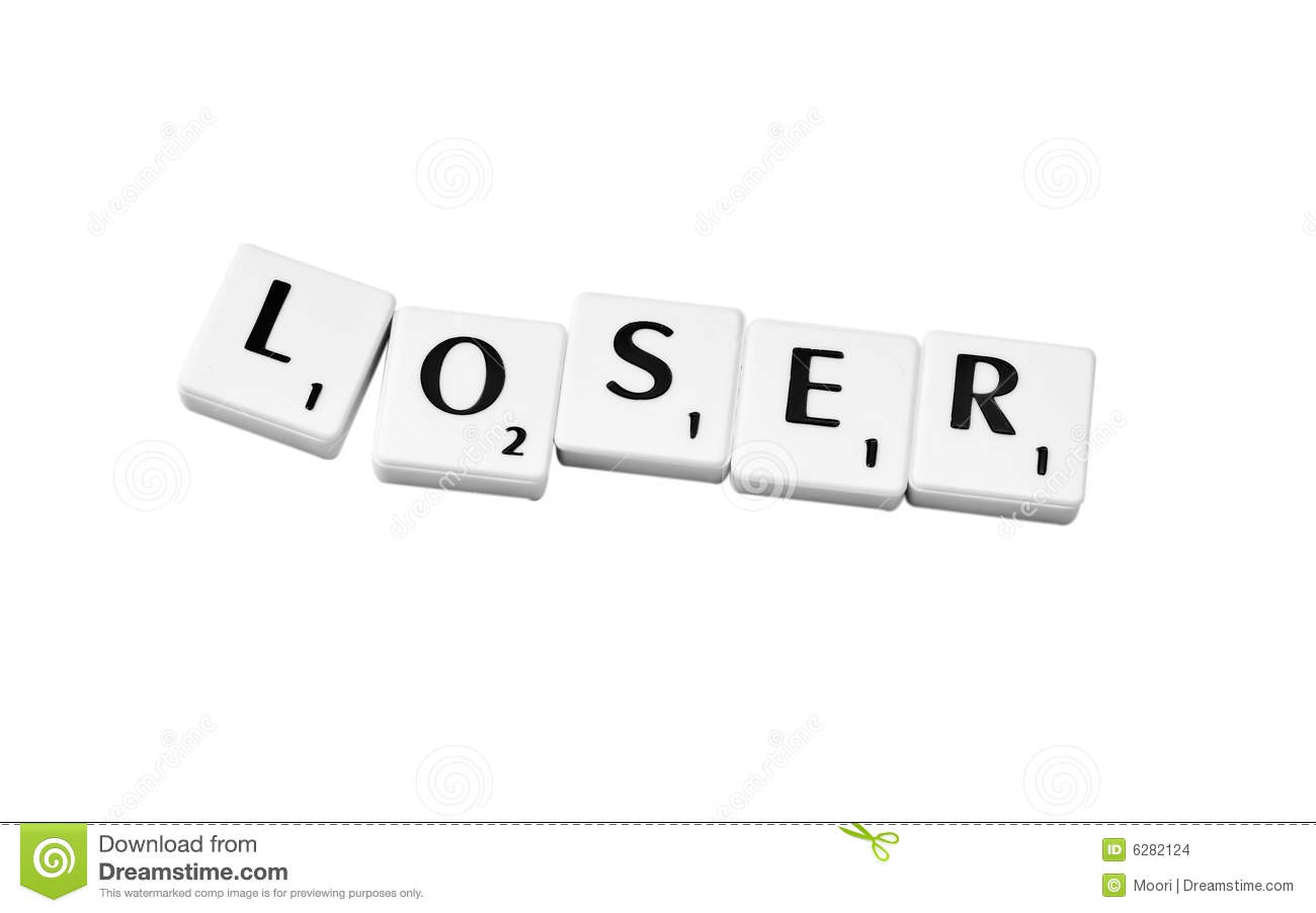 Plastic Game Letters Forming The Word Loser