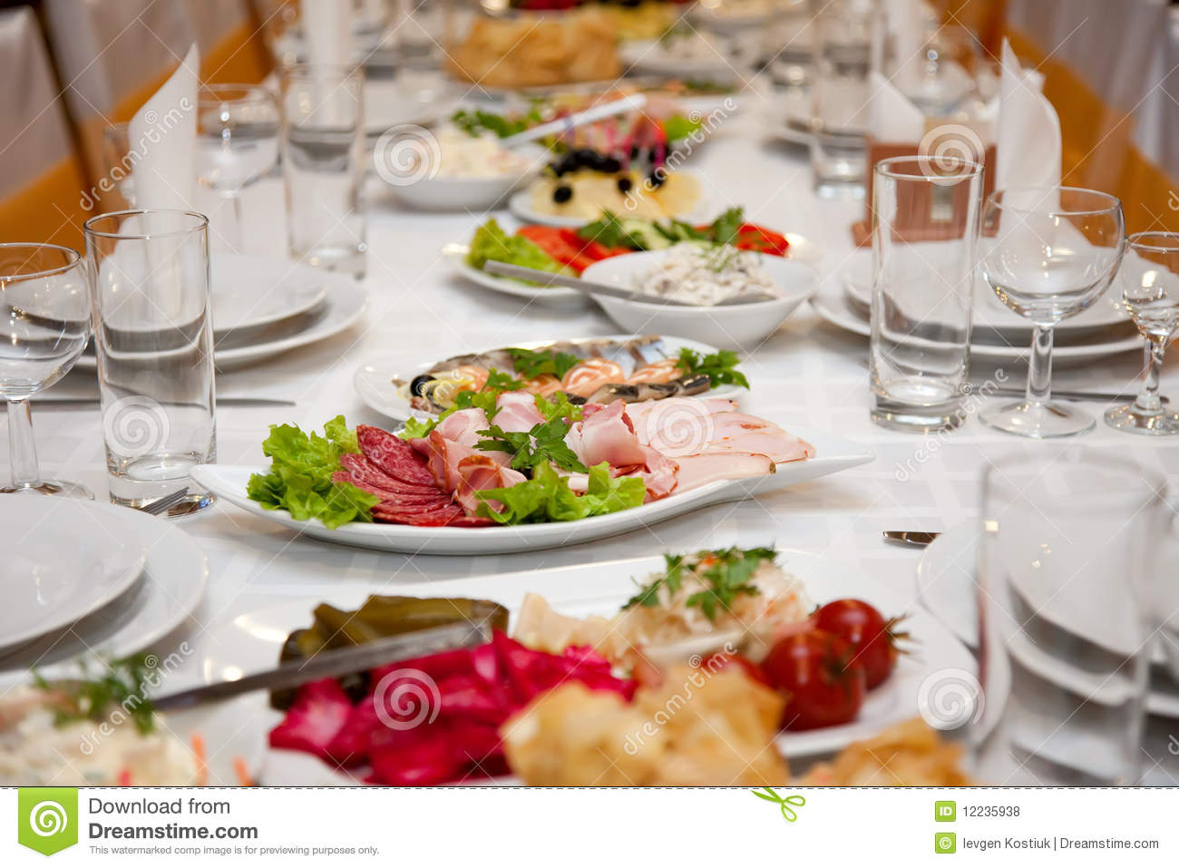 Royalty Free Stock Photos  Food At Banquet Table