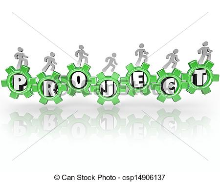 Stock Photos Of Project Word Gears People Working Together Accomplish