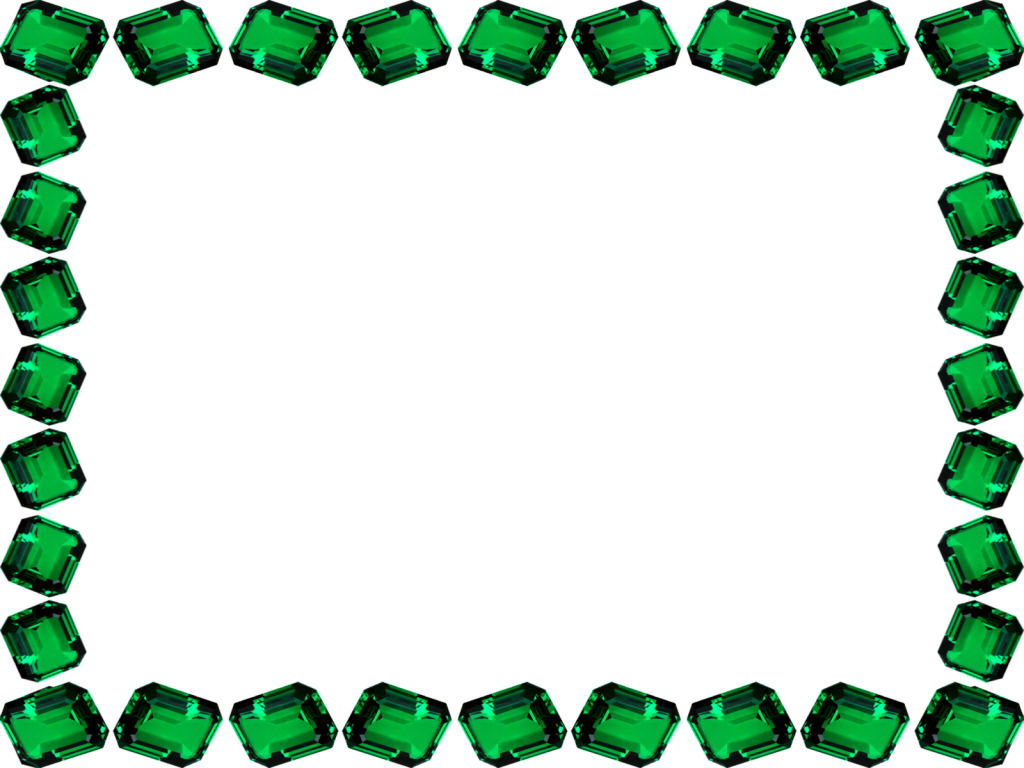 Stone Effect Green Jewel Scrapbook Frame Border And Best Friend Png